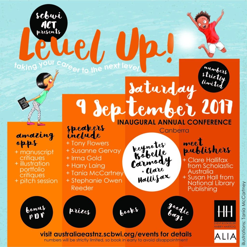 SCBWI ACT Level Up widget square 1